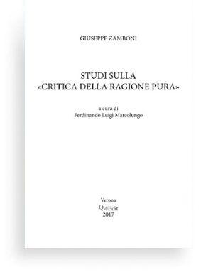 """Studi sulla """"Critica della ragion pura"""""""